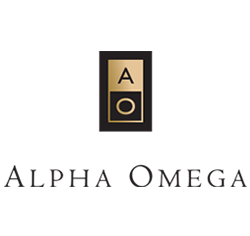 Alpha Omega Logo and Link to Website